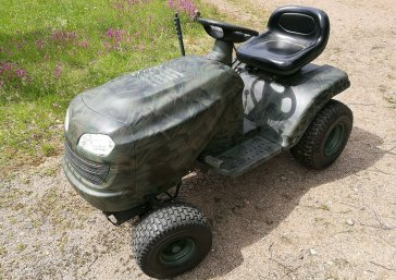 Garden tractor after